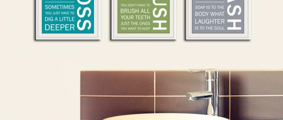 Quote Bathroom Wall Art Printables