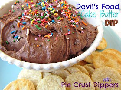 Devil's Food Cake Batter Dip {Pie Crust Dippers}