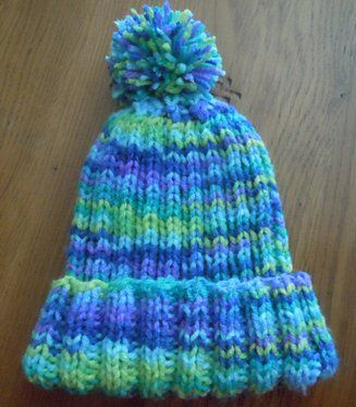 Rib knit hat knitting pattern, childs size Knitting Patterns Pintere...
