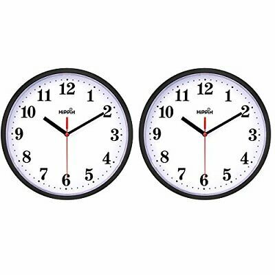 Details About 2 Pack Silent Non Ticking Quartz Wall Clock By Hippih Battery Operated 2 Pack In 2020 Clock Wall Clock Wall Clock Silent