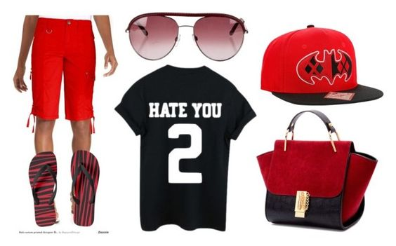 """Red & Black Summer"" by lichevymetsgrrl on Polyvore featuring Style & Co. and Tod's"