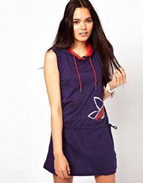 Adidas Purple Hooded Dress Sleeveless Hoodie Dress ...