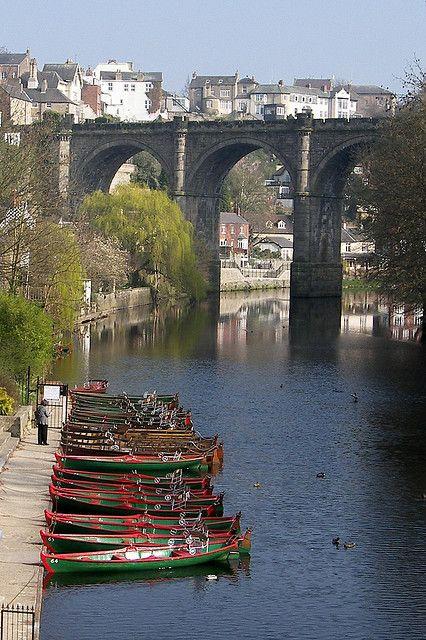 River Nidd & Knaresborough Railway Bridge in Yorkshire, North Yorkshire | England