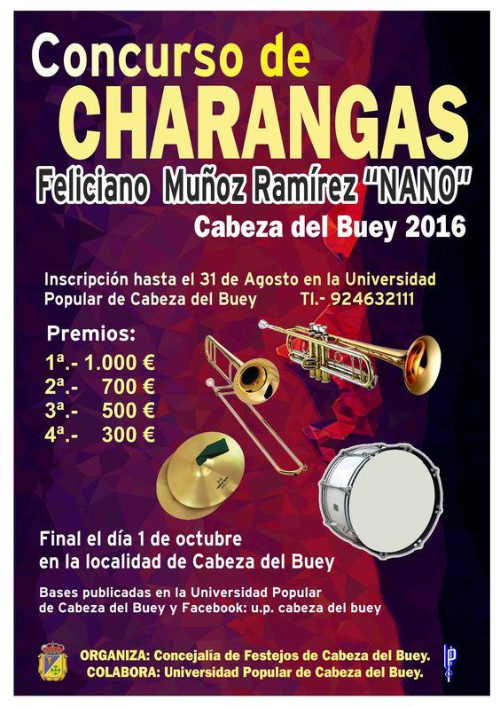 """Concurso de charangas """"Feliciano Muñon Ramírez (Nano)"""" Cabeza de Buey 2016 en http://promocionmusical.es/:"""