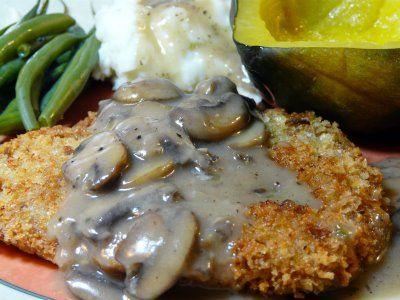 Breaded Pork Tenderloin with a Mushroom Gravy: Breaded Pork Tenderloin, Pork Recipes, Tenderloin Recipe, Food Pork, Food Ideas, Cooking Pork, Food Food, Pork Tenderloins, Mushroom Gravy