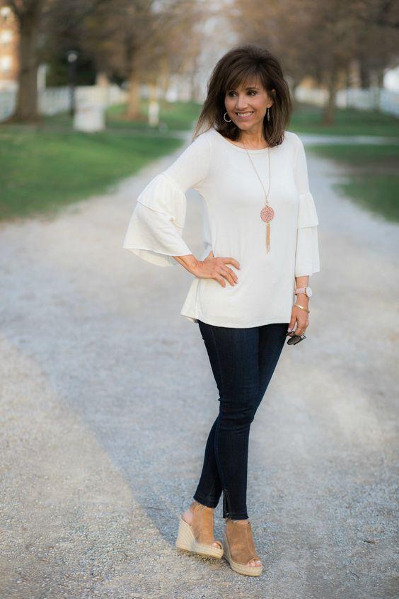Lainey Ruffle Sleeve Top Under $30