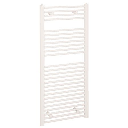 Reina Diva Thermostatic Electric Straight Towel Rail, 800mm High x 300mm Wide, White