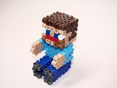 3d Perlerbeads アイロンビーズ Minecraft マイクラ トロッコ
