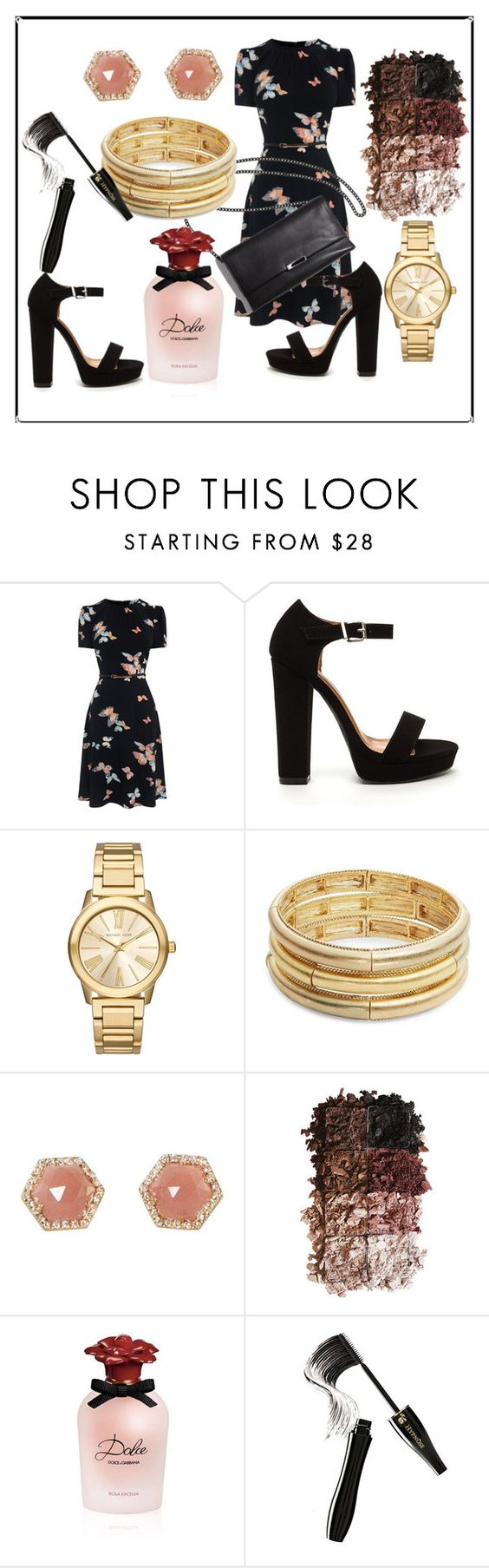 """Untitled #43"" by ruth-jaimie-hollingsworth on Polyvore featuring Michael Kors, Nanette Lepore, Luna Skye, LORAC, Dolce&Gabbana and Lancôme"