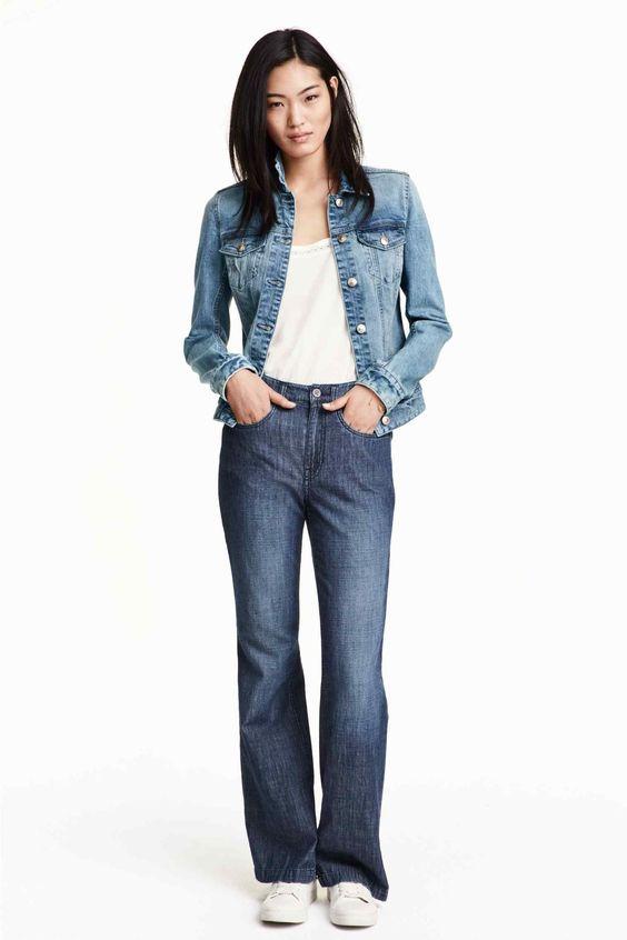 Jeans cu talie înaltă | H&M