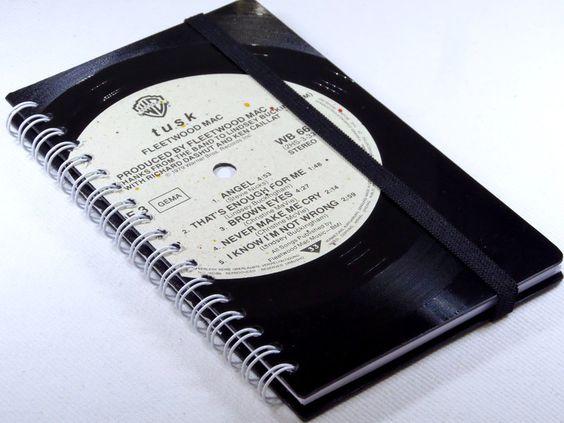 Taschenkalender 2016 von VinylKunst Aurum - Schallplatten Upcycling der besonderen ART auf DaWanda.com