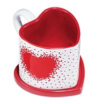 I Heart You Mug with Lid  Avon exclusive!  Matching lid doubles as a coaster.