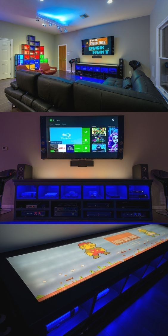 6 Components Of The Perfect Man Cave Game Room Family Lighting Gamer Diy
