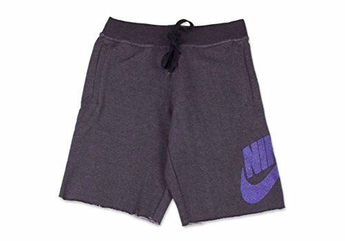 NIKE Nike Men'S Nsw Fb Alumni Men Short Black Heather/Purple Venom 627229-012. #nike #cloth #