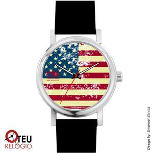 Mostrar detalhes para Relógio de pulso OTR BANDEIRA AMERICANA LOC 005