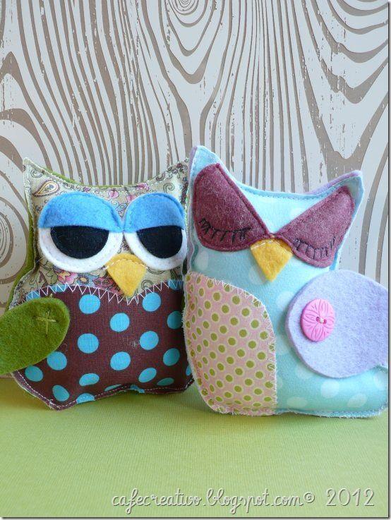 owl felt - gufi in feltro