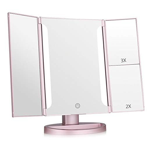 Easehold Lighted Makeup Mirror 2x 3x Magnifiers Vanity Mirror