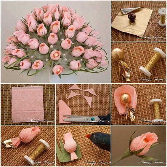 rosas en papel