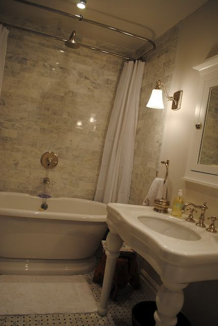 Tub shower combo, Pedestal and Wall faucet on Pinterest