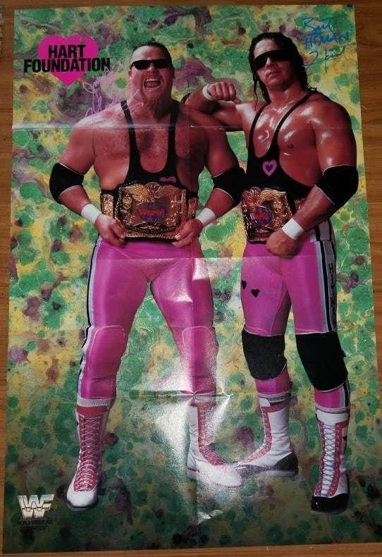 JIM NEIDHART /& BRET HART  WRESTLER 8 X 10 WRESTLING PHOTO  WWF