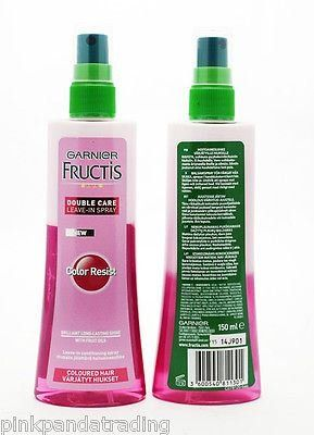 2 x garnier fructis double care color resist leave in conditioning spray - Fructis Color Resist
