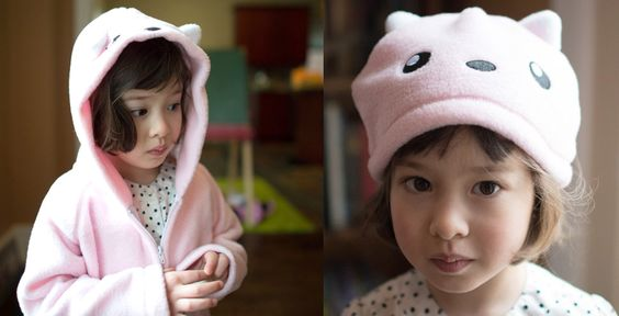 Pretty in Pink cat hoodie with ears, the puuurfect playful animal hoodie.