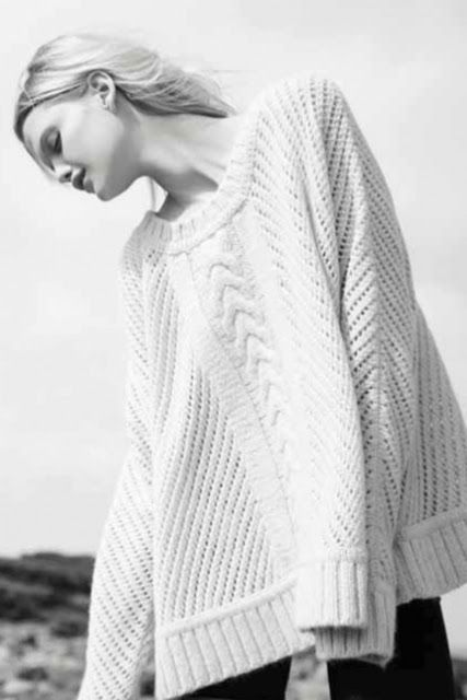 Contemporary Knitwear - chic swing sweater // Enza Costa