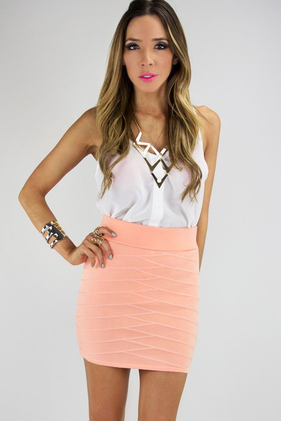 Mini pencil skirt outfit – Modern skirts blog for you