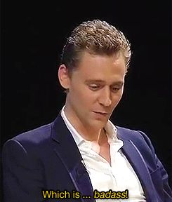 """Tom Hiddleston on the """"untranslatable"""" American word<- A great American word!!"""