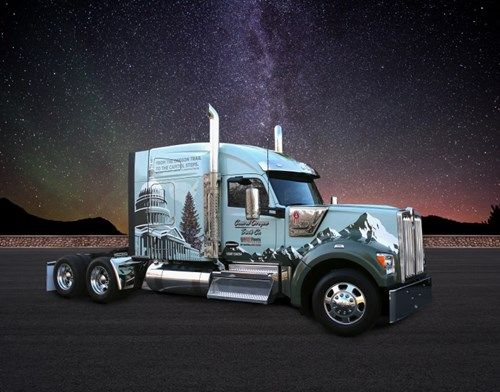 New Kenworth W990 Features Special Design For 54th Annual U S