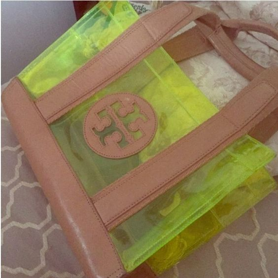 Tory burch Jesse tote Neon yellow. Minor scratches and small white mark inside of tote. Showstopping piece. Will do 100 on ️️ also on Tradesy for less ❗️ Tory Burch Bags Totes