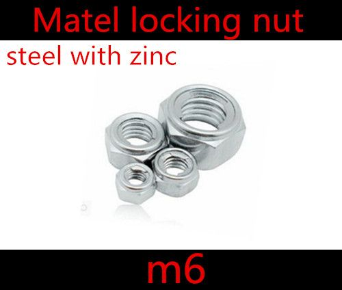 $7.68 (Buy here: http://appdeal.ru/75l5 ) 50pcs/lot DIN985 Steel With Zinc  M6 metal Lock Insert Nut for just $7.68