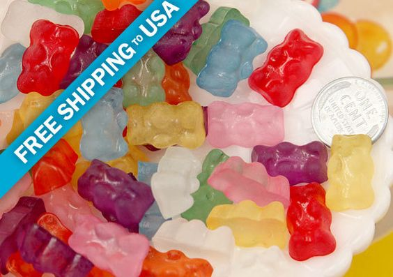 20mm Fake Hard Resin Gummy Bears Flatback Cabochons by delishbeads, $3.96