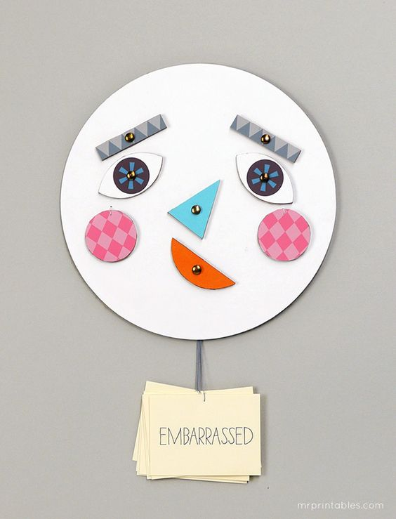 Make a face! DIY toy with changing faces - Learning about emotions