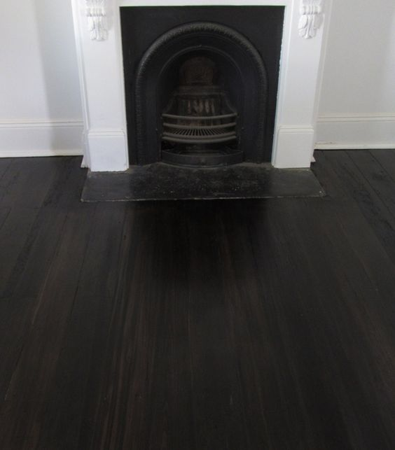 Stain expresso timber baltic pine finish bona traffic for Pine floors stained dark