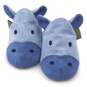 英國 Funky Feet 手工學步鞋 室內鞋 藍色河馬 6-24M