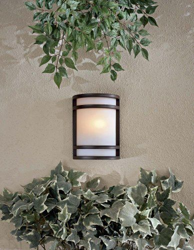 "Bay View Collection Bronze 9 1/2"" High Outdoor Wall Light by Minka Lavery. $109.90. Crisp, minimal lines and a generous, warm light give this Minka outdoor fixture instant appeal.. Save 33% Off!"