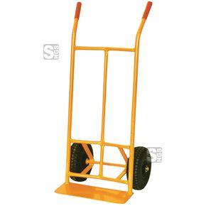 Sackkarre, Tragfähigkeit 300 kg, aus Stahl, Vollgummi- oder Lufträder  #Schubkarre #Schiebkarre #Muldenkarre #Betonkarre #Transportkarre