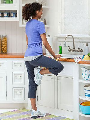 9 Quick Tips for an At-Home Workout: Tree Pose (via Parents.com)