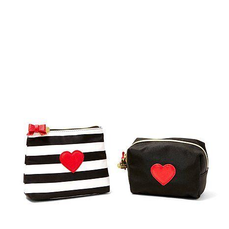Betsey Johnson Cosmetic Bag 2-piece Set