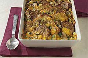 Cheesy Veggie Burger Brunch Casserole