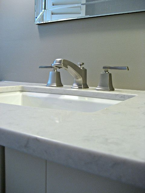 White under mount bathroom sink quartz vanity top for Silestone kitchen sinks