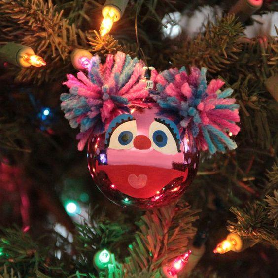 Abby Cadabby Hand Painted Christmas Ornament Etsy Painted Christmas Ornaments Christmas Ornaments Diy Christmas Ornaments