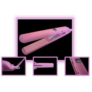 Click on the image for more details! - Professional Elite Digital LCD Ionic Flat Hair Iron Straightener - Pink (Health and Beauty)