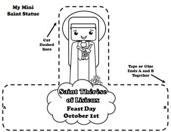 st therese of lisieux coloring page - october calendar calendar activities and calendar on