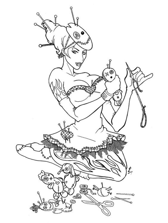 Pinned Up Voodoo Dolly By Trissadeviantart On DeviantArt