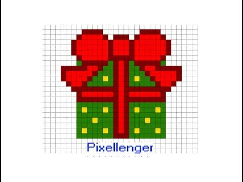 2 Christmas Box Gift Pixel Art How To Draw Youtube