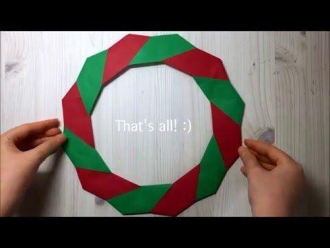 How To Make A Christmas Wreath1 크리스마스 리스 만들기1 Youtube 크리스마스 카드 크리스마스 리스 종이접기