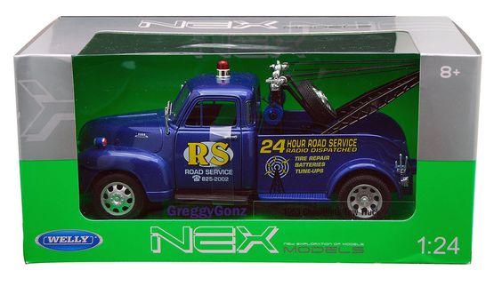 1:24 WELLY NEX MODELS - 1953 CHEVROLET TOW TRUCK - BLUE * NIB #Welly #Chevrolet