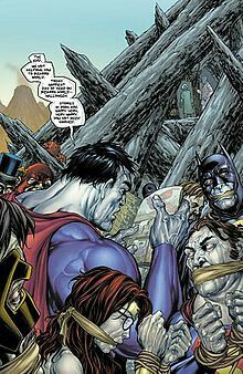 Bizarro holds a party